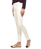 Natural cream cotton blend jeggings