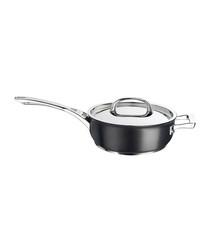Image of Black aluminium chef's pan 24cm