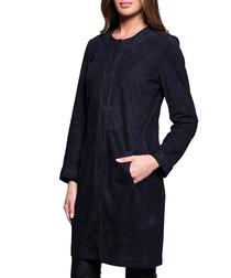 Women's Kathy navy suede coat