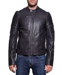 John Wody black leather jacket
