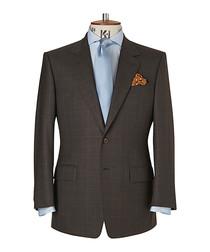 Burlington brown & blue check wool suit