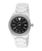 DV One white ceramic & diamond watch