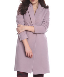Queen pink wool blend coat