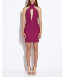State hyacinth violet mini dress