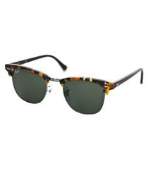 Clubmaster green fleck havana sunglasses
