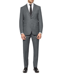 Two-piece grey wool suit