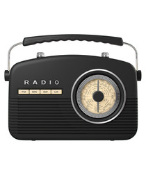 Black retro radio