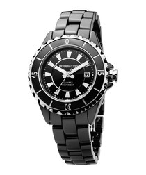 Oceamica black ceramic watch