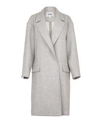 Robin grey wool blend coat