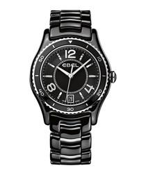 X-1 black ceramic bracelet watch