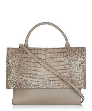 5792da8c41 Givenchy. Sharktooth taupe leather shoulder bag