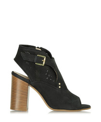 Ernesta black suede cut-out ankle boots