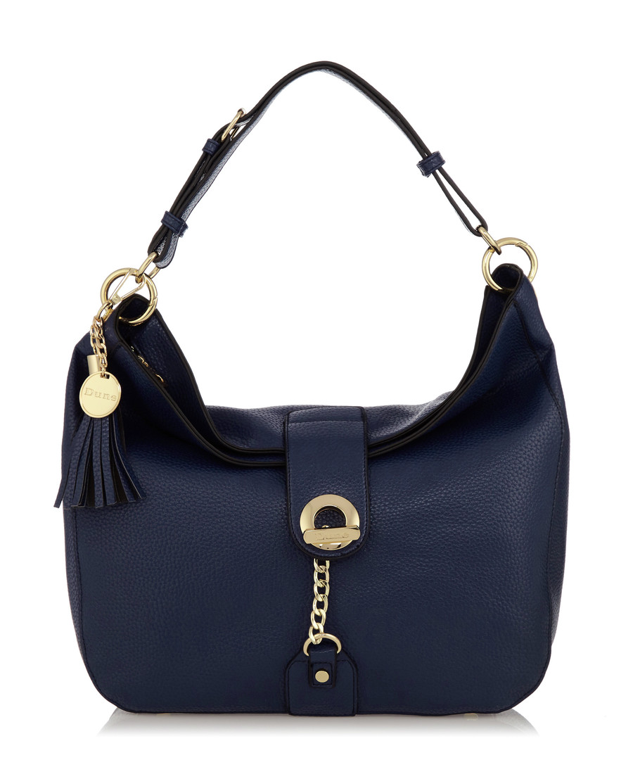 Dobbly navy textured shoulder bag Sale - Dune