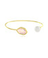 Reflection gold-plated faux pearl bangle Sale - fleur envy Sale