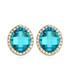 Blue Diva gold-plated crystal earrings Sale - fleur envy Sale