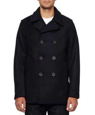 Black wool blend pea coat Sale - Timberland Sale 039b1f34b332