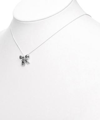 f51816eaa0ec Bow silver pendant necklace Sale - Vintage Tiffany Sale