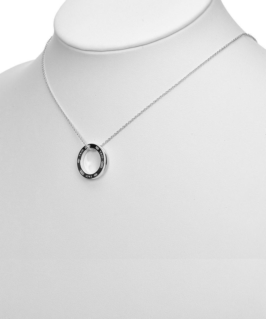 Discount circle silver engraved pendant necklace secretsales circle silver engraved pendant necklace sale vintage tiffany aloadofball Choice Image