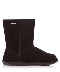 Paterson Lo dark suede boots