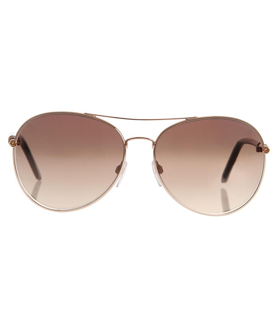 Brown & gold-tone sunglasses  Sale - Roberto Cavalli