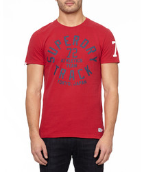 Red '72' pure cotton T-shirt