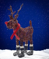 Image of Brown LED Rudolph reindeer 100cm