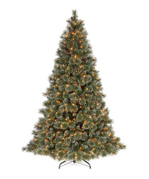 Image of Glittery Bristle Pine LED tree 6.5ft