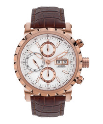 Le Chronographe white & rose gold watch