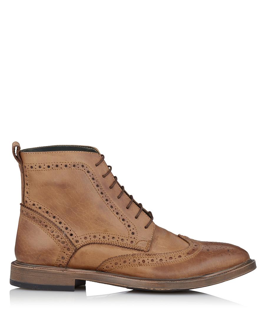 Boston tan leather brogue boots Sale - KG Kurt Geiger