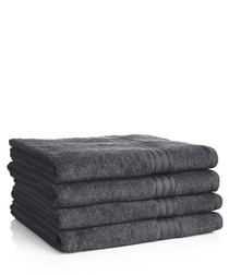 Image of 4pc charcoal Egyptian cotton bath sheets