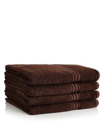 Image of 4pc chocolate Egyptian cotton bath sheets
