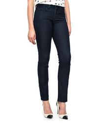 Denim blue skinny plus size jeans