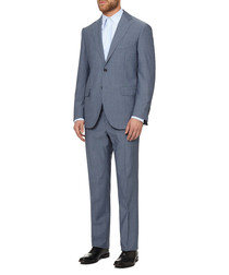 Light blue pure wool two-piece suit