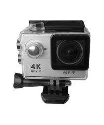 Grey waterproof HD camera & accessories