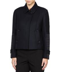 Elbas black pure wool jacket