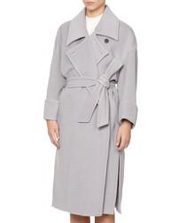 Baxter cloud grey pure wool coat