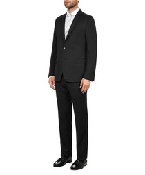 2pc black pure wool suit