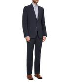2pc navy wool blend suit