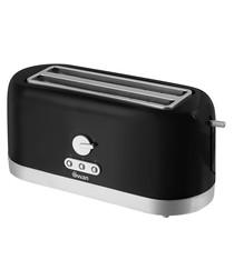 Image of Black 4-slice longslot toaster 1400W