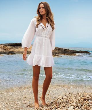 03112340de8 Isabelle white embroidered dress Sale - Melissa Odabash Sale