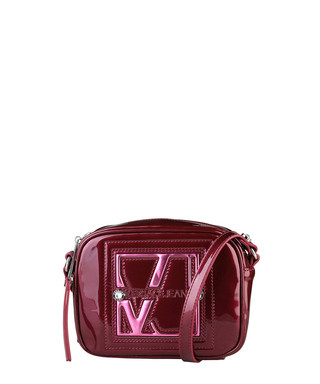 Red patent-effect cross body bag Sale - Versace Jeans Sale b2c1040558546