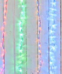 Image of 240 multi-coloured LED waterfall lights