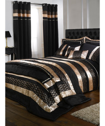 Image of Midnight black & gold curtains 54cm