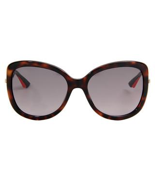49d87d0bdbbe Christian Dior. Dark tortoiseshell oversized sunglasses