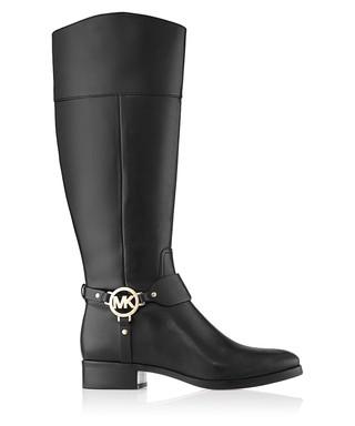 f599693085da Fulton black leather  MK  boots Sale - Michael Kors Sale