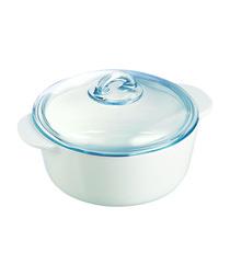 White ceramic dish 2L