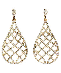 Rosaline gold-tone crystal earrings