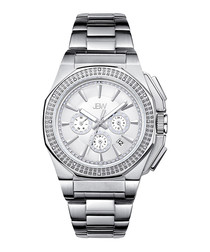Knox silver-tone & diamond watch