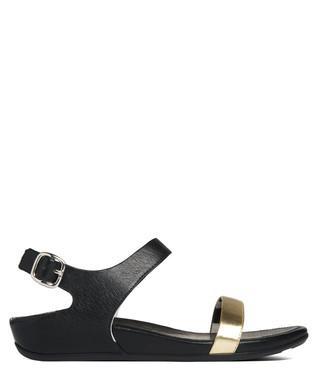 b6b44a2b030f Banda gold   black leather sandals Sale - FITFLOP Sale