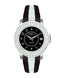 Aphrodite Stahl black & diamond watch